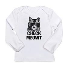 Check Meowt Long Sleeve Infant T-Shirt