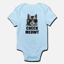 Check Meowt Infant Bodysuit