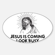 Jesus is Coming Oval Decal
