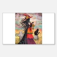 Witch Way Halloween Witch Art Decal