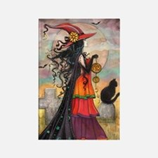 Witch Way Halloween Witch Art Magnets