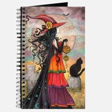 Witch Way Halloween Witch Art Journal