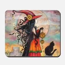 Witch Way Halloween Witch Art Mousepad