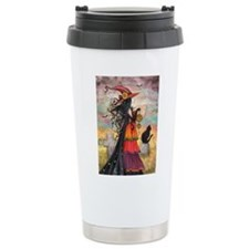 Witch Way Halloween Witch Art Travel Mug