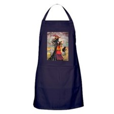 Witch Way Halloween Witch Art Apron (dark)
