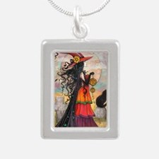 Witch Way Halloween Witch Art Necklaces