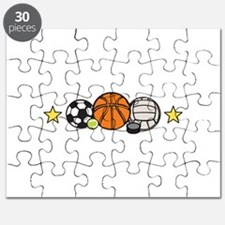 Sports Equipment Border Puzzle