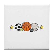 Sports Equipment Border Tile Coaster
