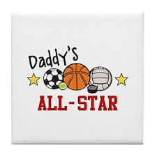Daddys All-Star Tile Coaster
