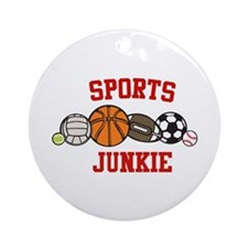 Sports Junkie Ornament (Round)