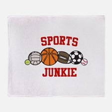 Sports Junkie Throw Blanket