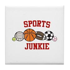 Sports Junkie Tile Coaster