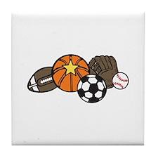 Sports Gear Tile Coaster