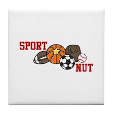 Sports Nut Tile Coaster