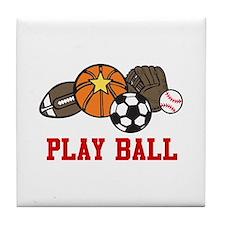 Play Ball Tile Coaster
