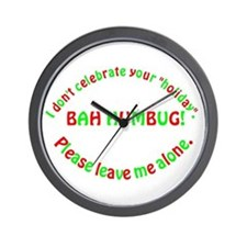 No Holiday Wall Clock