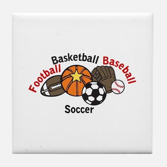 Sports Names Tile Coaster