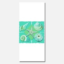 Collage of Beach Seashells Shades of Blue Green In