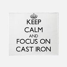 Funny Iron Throw Blanket