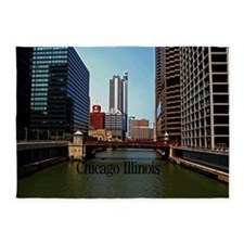 Chicago Illinois 5'x7'Area Rug