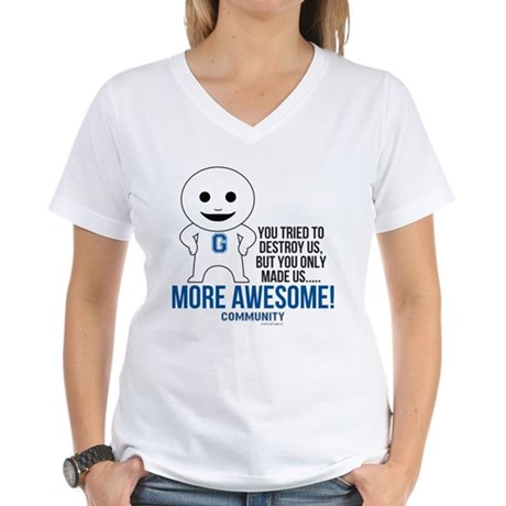 Community TV More Awesome Women's V-Neck T-Shirt