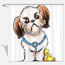 Shih Tzu Ducky Shower Curtain