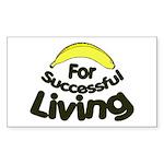 humorous banana Rectangle Sticker