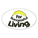 humorous banana Oval Sticker
