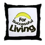 humorous banana Throw Pillow