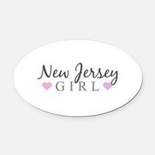 New Jersey Girl Oval Car Magnet