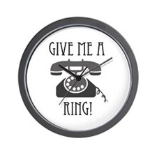 Give Me a Ring Wall Clock