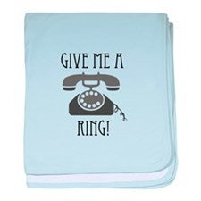 Give Me a Ring baby blanket