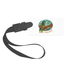 Tropical Parrot Luggage Tag
