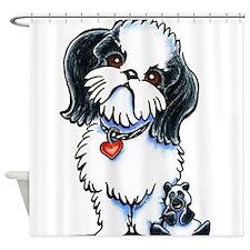 Shih Tzu Panda Shower Curtain