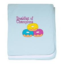 Breakfast of Champions baby blanket