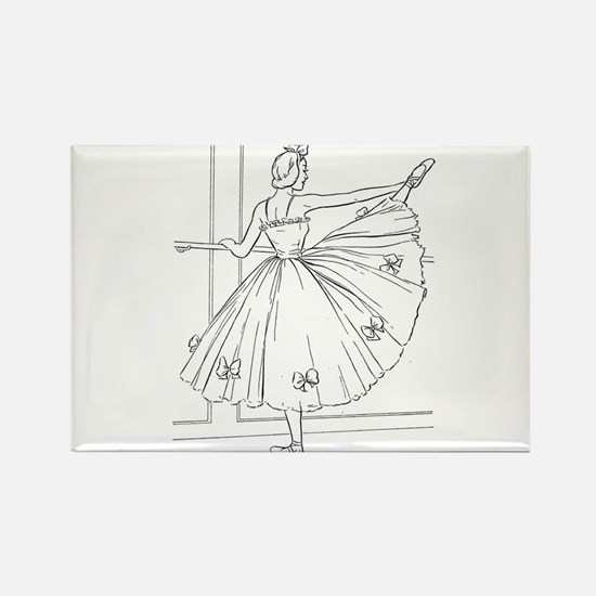 Ballerina Stretching - Color Your Own Magnets