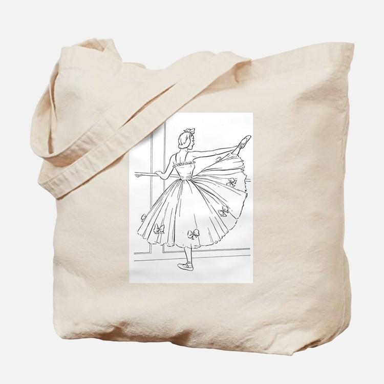 Ballerina Stretching - Color Your Own Tote Bag