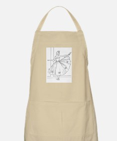 Ballerina Stretching - Color Your Own Apron