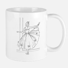 Ballerina Stretching - Color Your Own Mugs