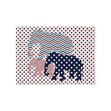 Patriotic Elephants 5'x7'Area Rug