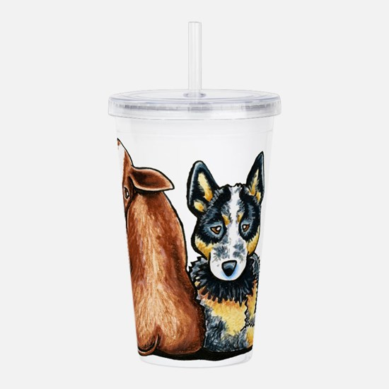 ACD and Cow Acrylic Double-wall Tumbler