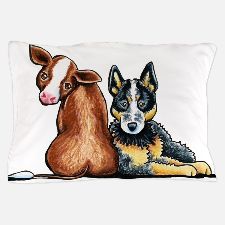 ACD and Cow Pillow Case