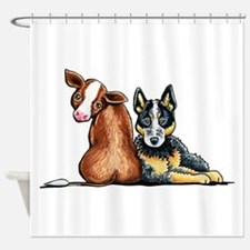 ACD and Cow Shower Curtain