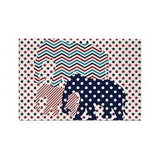 Patriotic Elephants Magnets