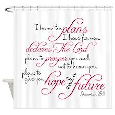 Jeremiah 29:11 Design Shower Curtain