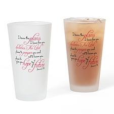 Jeremiah 29:11 Design Drinking Glass