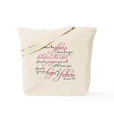 Jeremiah 29:11 Design Tote Bag