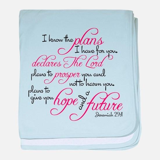 Jeremiah 29:11 Design baby blanket