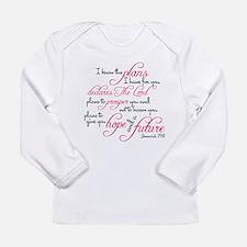 Jeremiah 29:11 Design Long Sleeve Infant T-Shirt