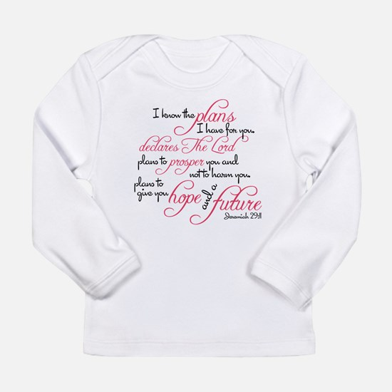 Jeremiah 29:11 Design Long Sleeve Infant T-Shirt